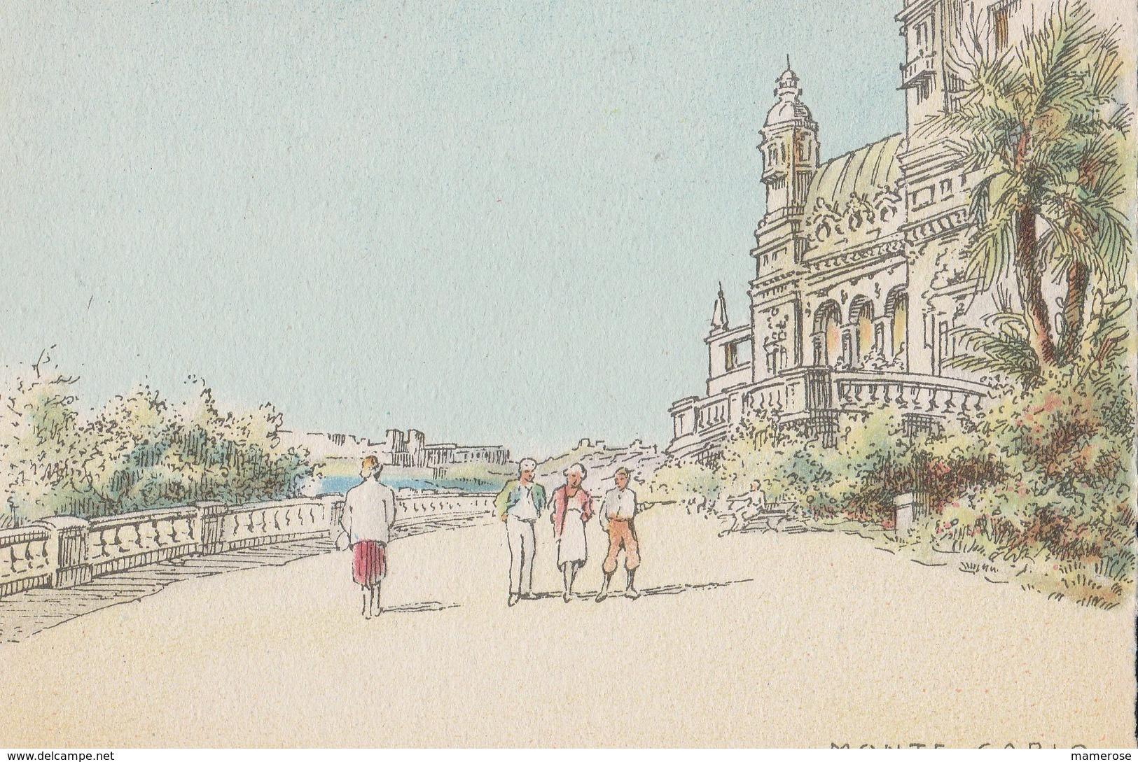Barré & Dayez. Illustrateurs: Signé: P. Charlemagne. MONTE-CARLO (Monaco). Terrasse Du Casino. N°2312 D - Ilustradores & Fotógrafos