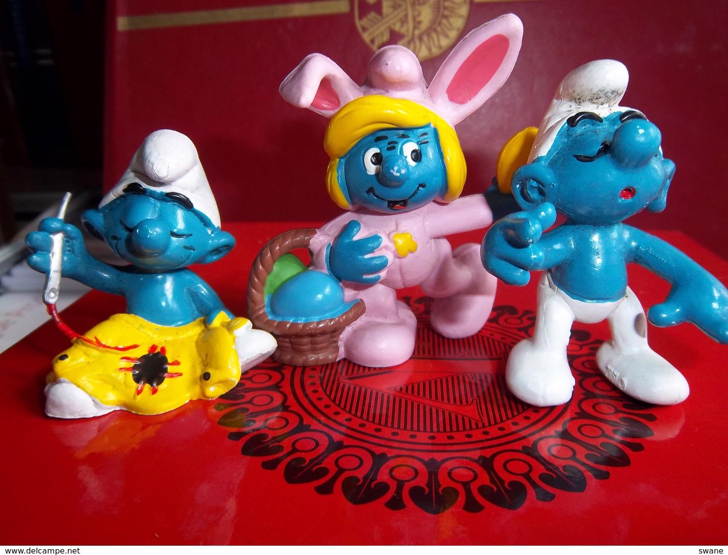 Figurine : Lot De 3 Figurines Schtroumpfs  Marque PEYO - I Puffi