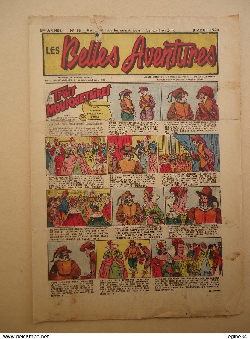 Lot 52 Numéros - Editions Mondiale Nice - Les Belles Aventures - Du 12 Avril 1943 Au 16 Août 1944 - - Other Magazines