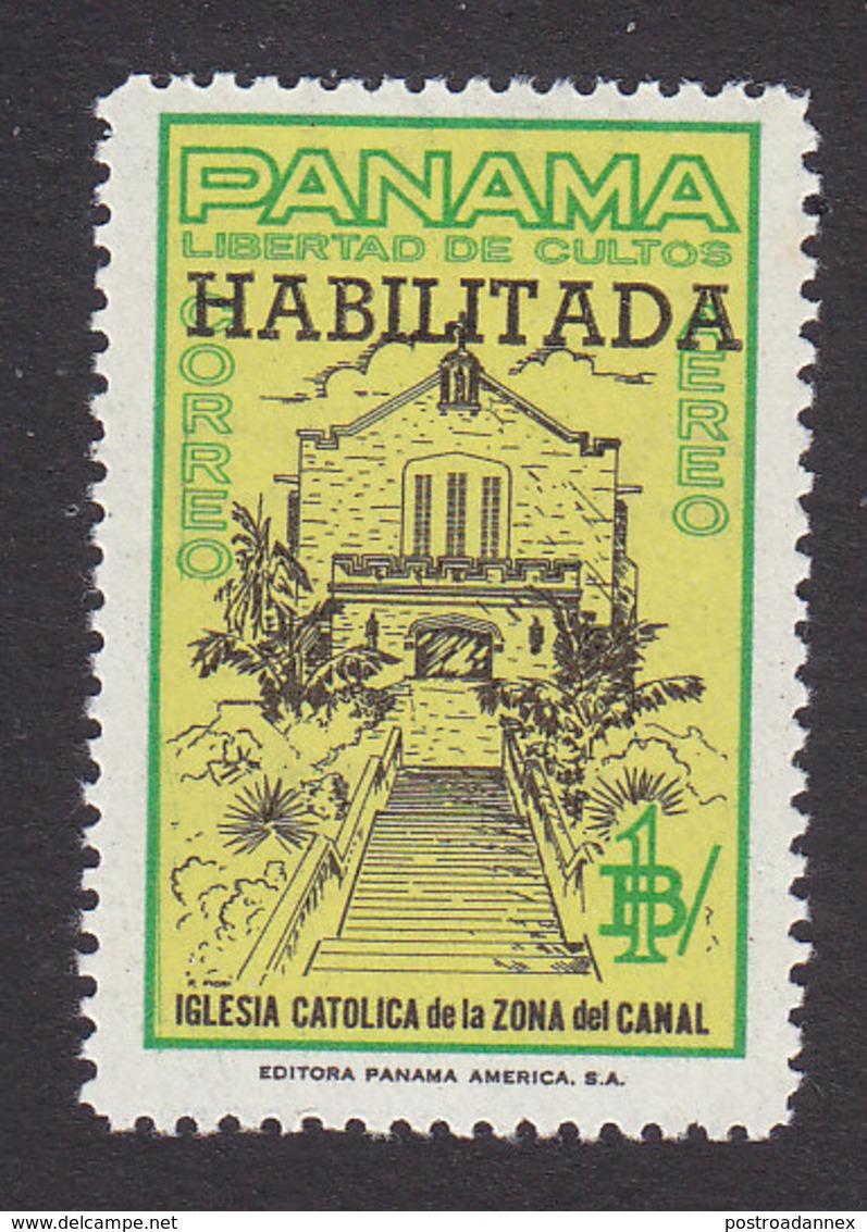 Panama, Scott #C297, Mint Hinged, Building Overprinted, Issued 1964 - Panama