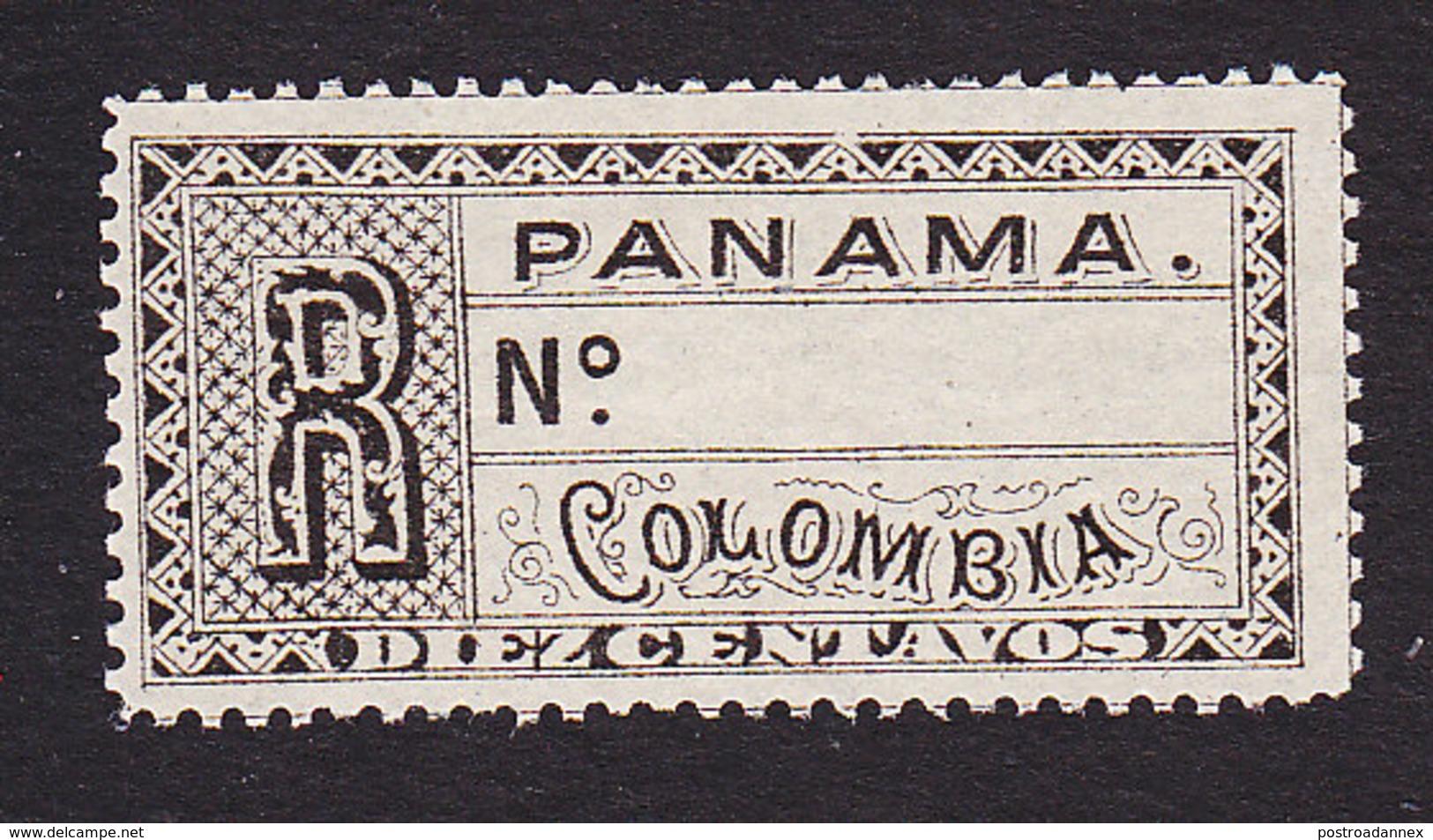 Panama, Scott #F1, Mint No Gum, Registration Stamp, Issued 1888 - Panama