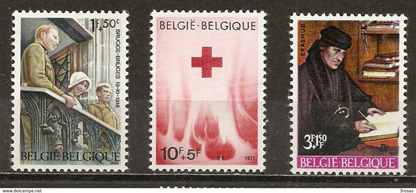Belgique Belgium Surtax Stamps With Croix-rouge Erasmus Red Cross MNH ** - Verzamelingen (zonder Album)