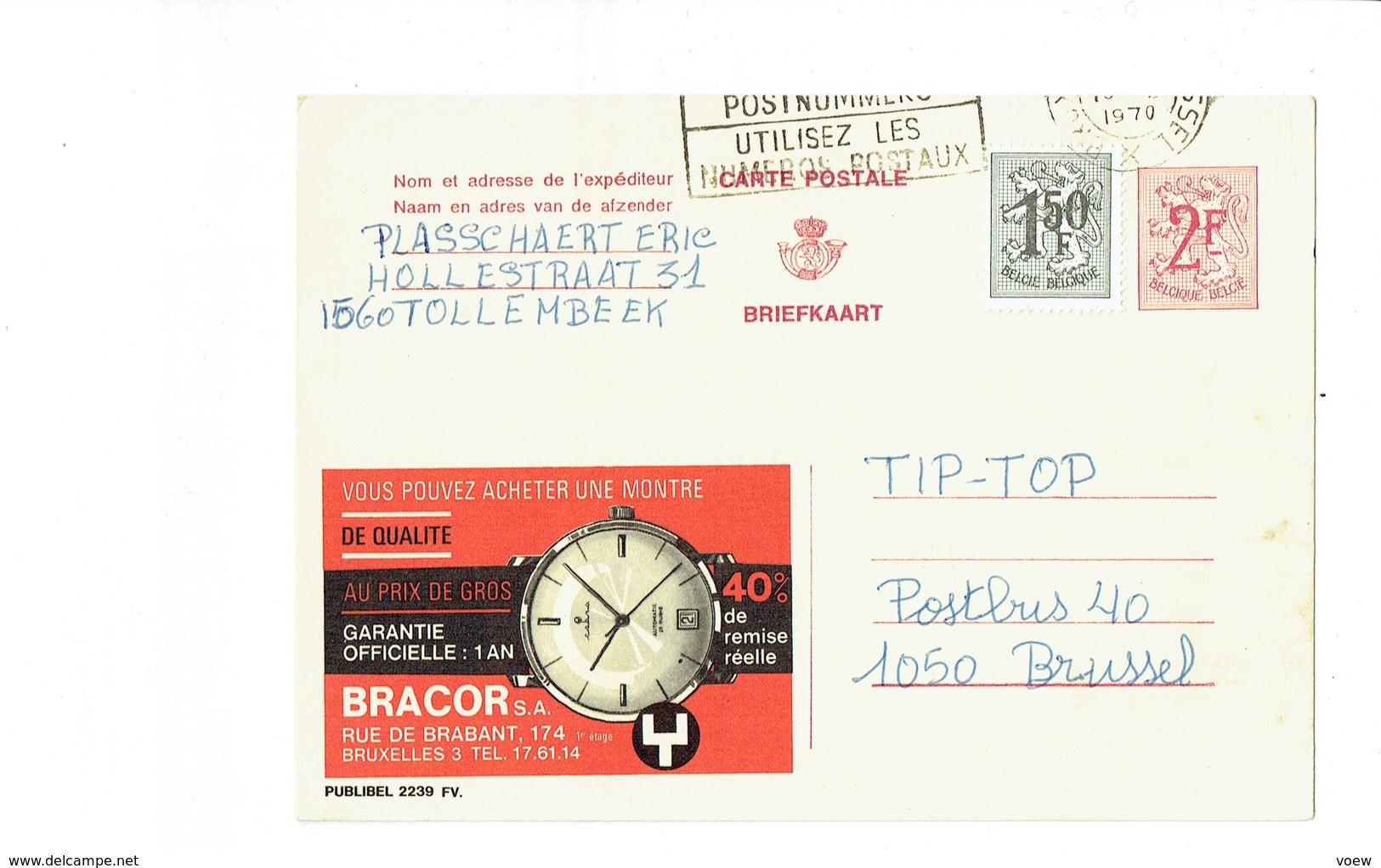 Publibel 2239FV - BRACOR - 0262 - Stamped Stationery