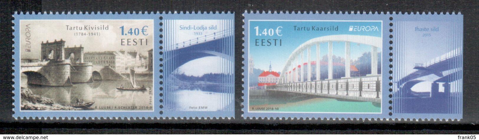 Estland / Estonia / Estonie 2018 Satz/set EUROPA ** - 2018