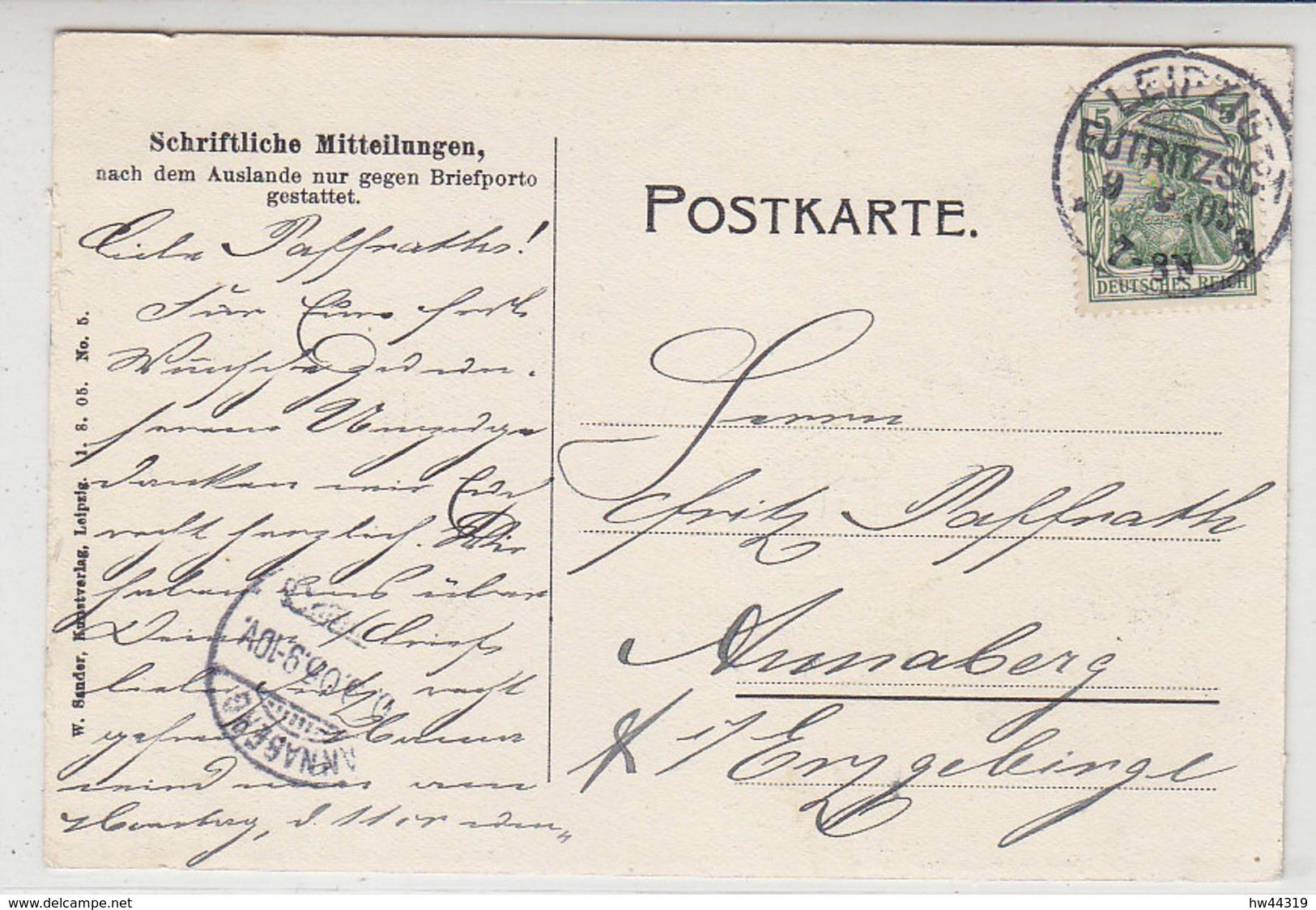Leipzig - Bayr.Platz-Carolinen Strasse - 1905 KOS Stempel Leipzig Eutritzsch - Leipzig