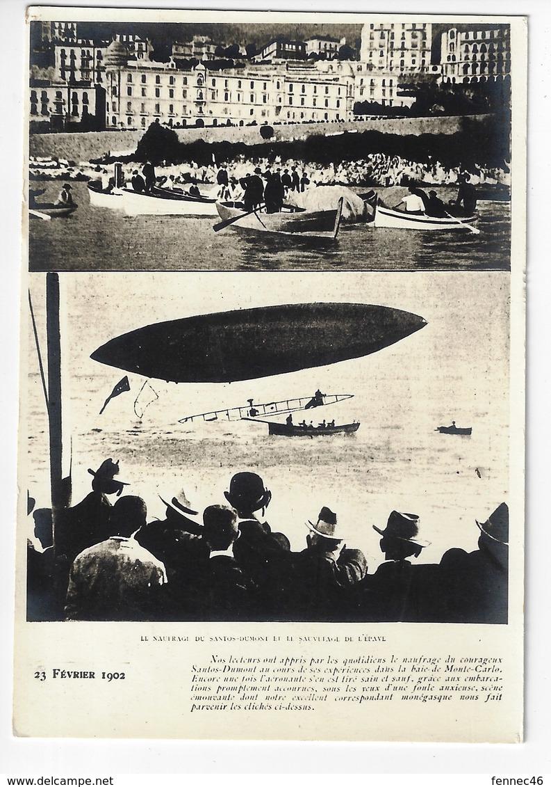 (Dirigeable) 23 Février 1902 - Le Naufrage Du Santos Dumont Et Le Sauvetage De L'équipage - Animée (C185) - Accidents
