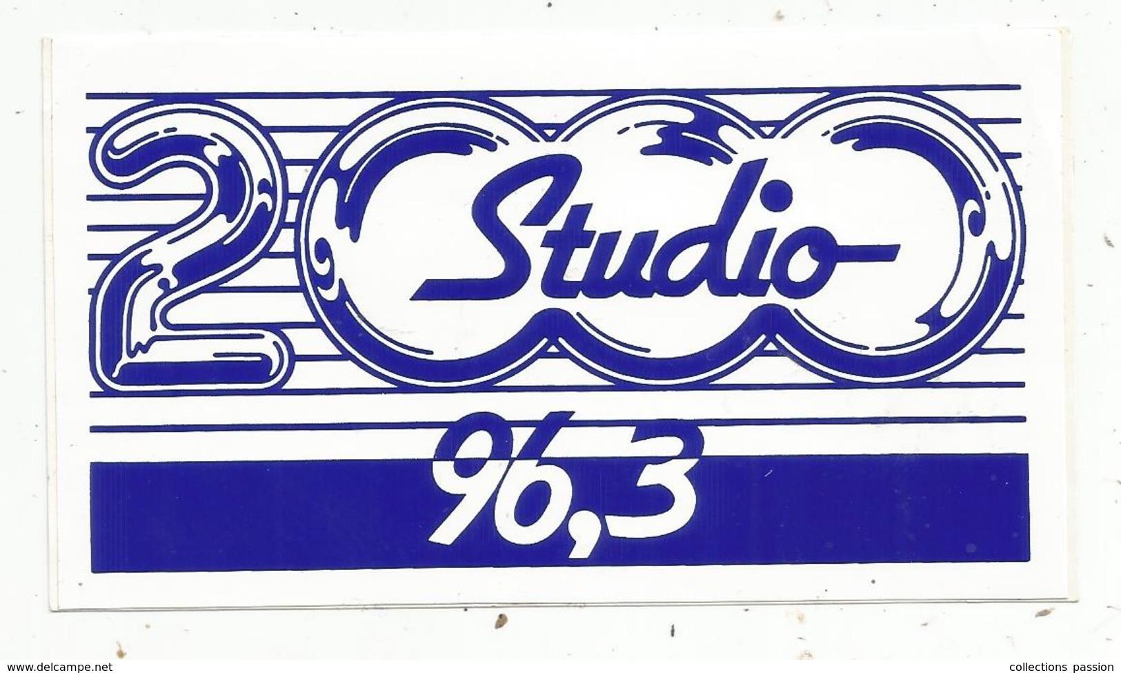 Autocollant ,  RADIO , STUDIO 2000 , 96,3 - Autocollants