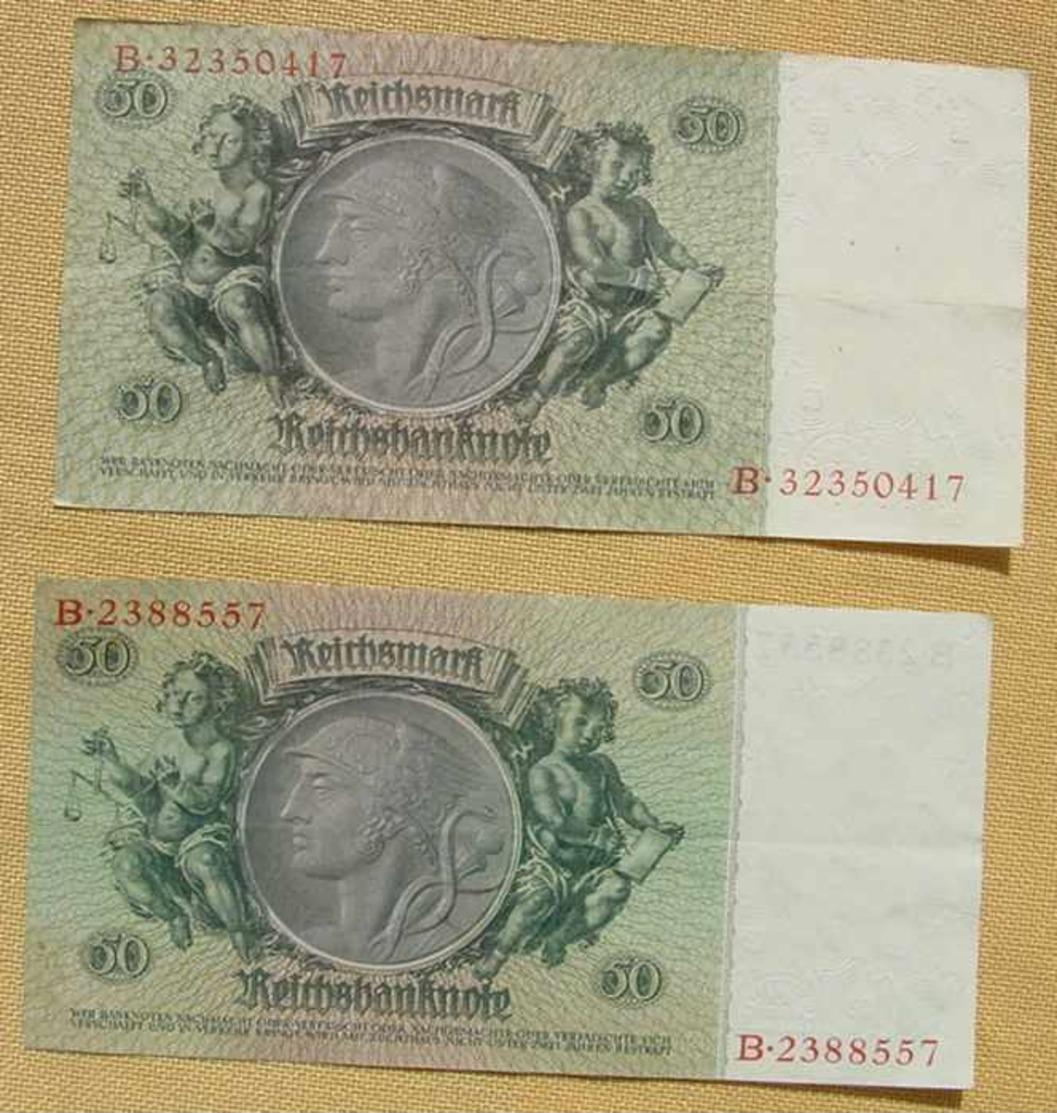 (1049296) 2 X 50 Reichsmark, Berlin 30. März 1933, KN 7 U. KN 8-stellig, Siehe Bitte Beschreibung U. Bilder - [ 4] 1933-1945: Derde Rijk