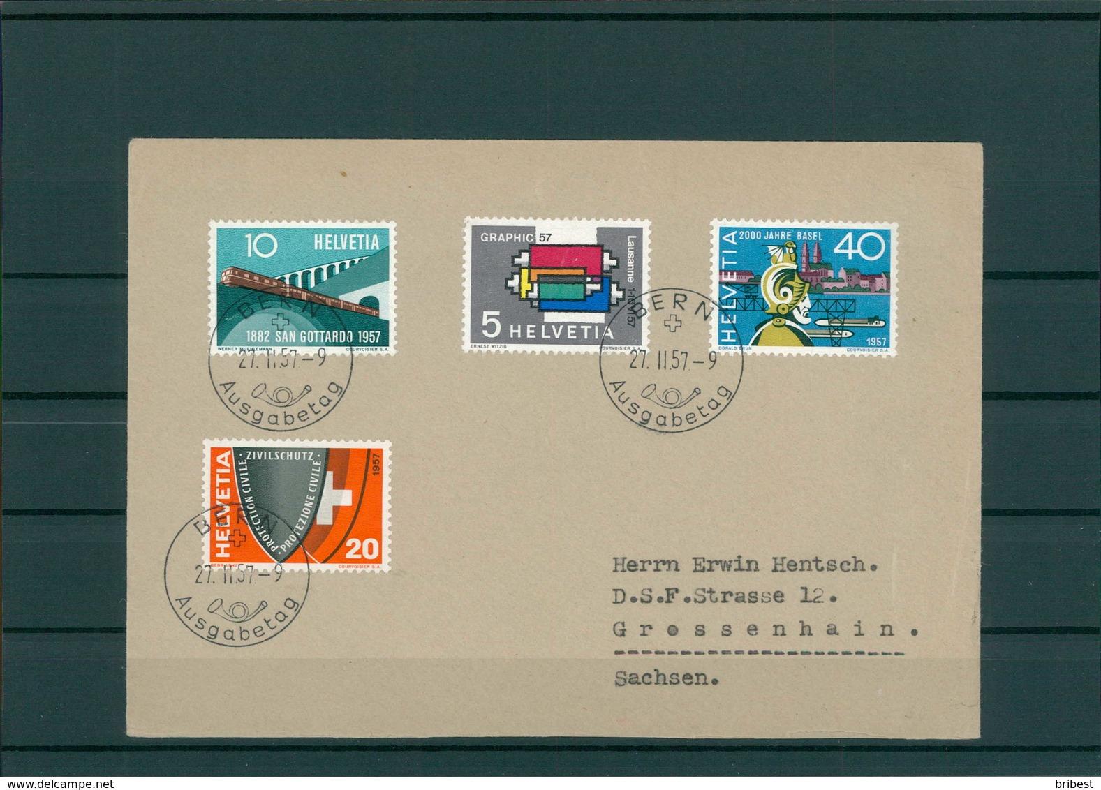 SCHWEIZ 1957 Ersttagsbrief (202279) - Schweiz