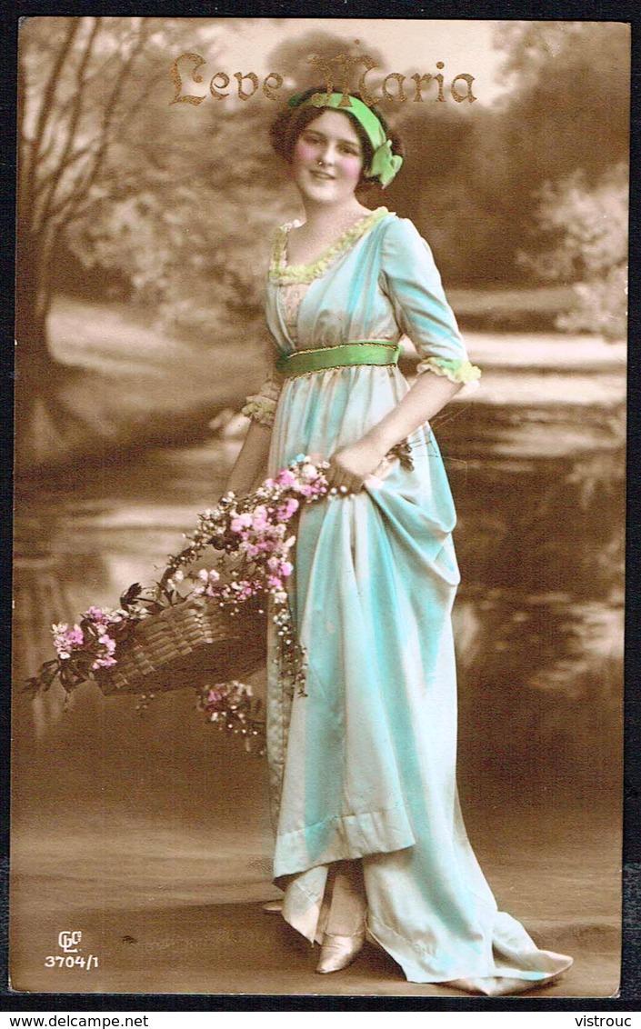 FEMME - CP - Jeune Femme Avec Panier De Fleurs - Circulé - Circulated - Gelaufen - 1912. - Femmes