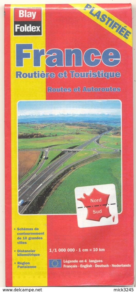 Blay Foldex - Carte Routière - France Routière Et Touristique (Plastifiée) - Cartes Routières