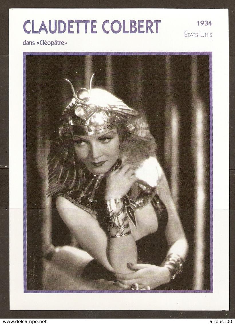 PORTRAIT DE STAR 1934 ETATS UNIS USA - ACTRICE CLAUDETTE COLBERT CLEOPATRE - ACTRESS CINEMA - Fotos