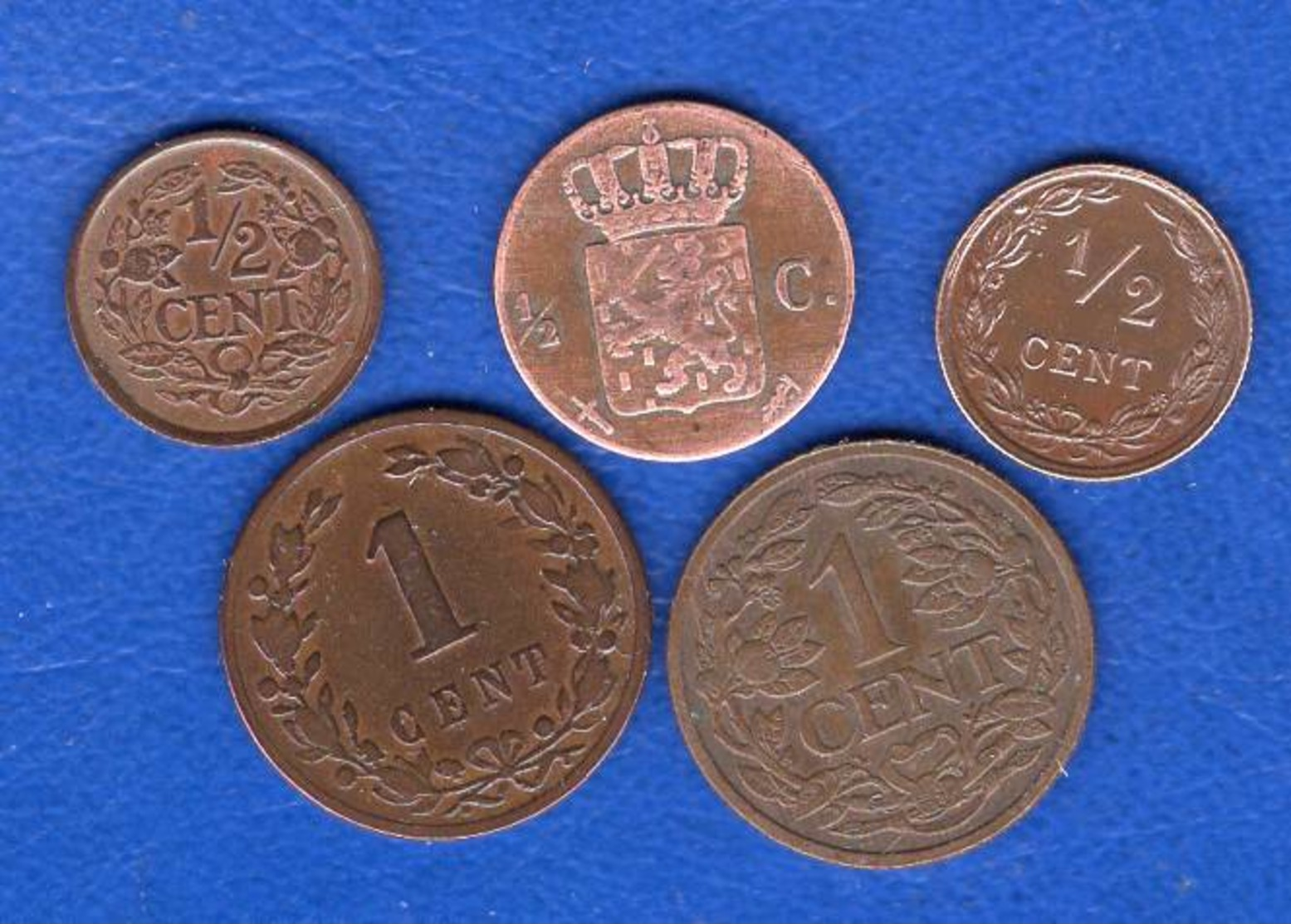 Pays Bas  5  Pieces - [ 3] 1815-… : Kingdom Of The Netherlands