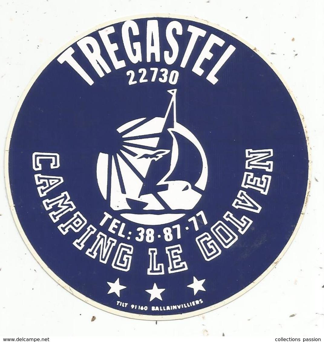 Autocollant , CAMPING LE GOLVEN ,  22 , TREGASTEL - Autocollants
