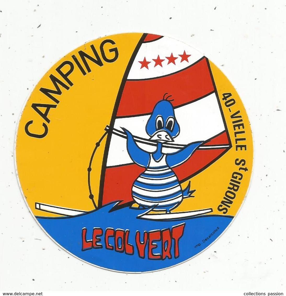 Autocollant , CAMPING LE COLVERT ,Landes ,VIELLE SAINT GIRONS - Autocollants