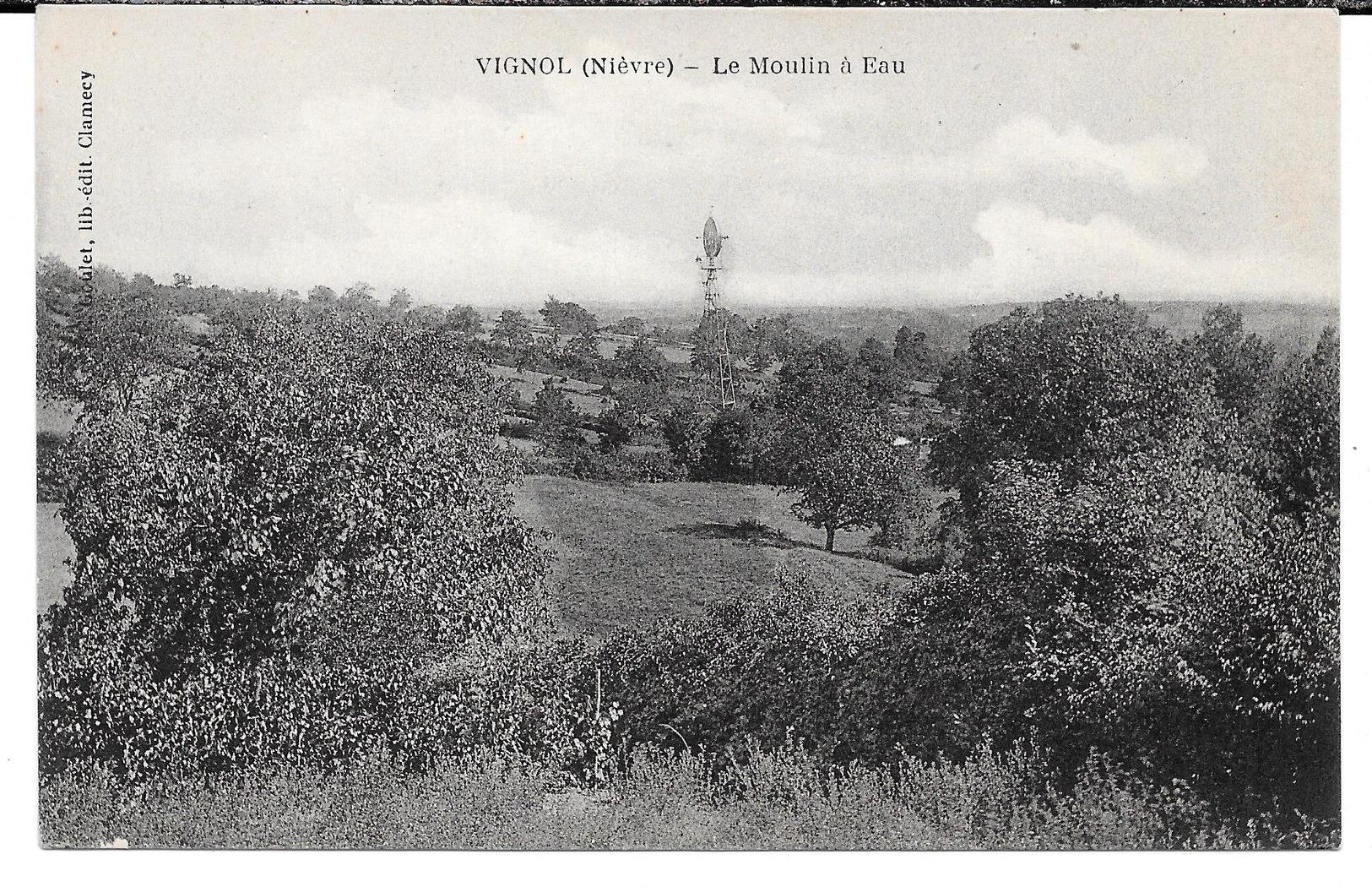 Cpa Vignol - Le Moulin à Eau . - Frankrijk