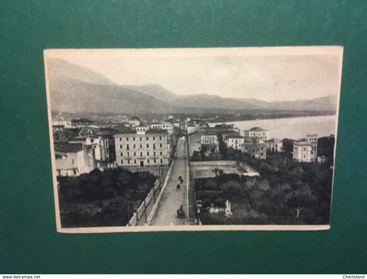 Cartolina Formia - Via Vitruvio Con Piazza Risorgimento E Panorama - 1938 - Latina