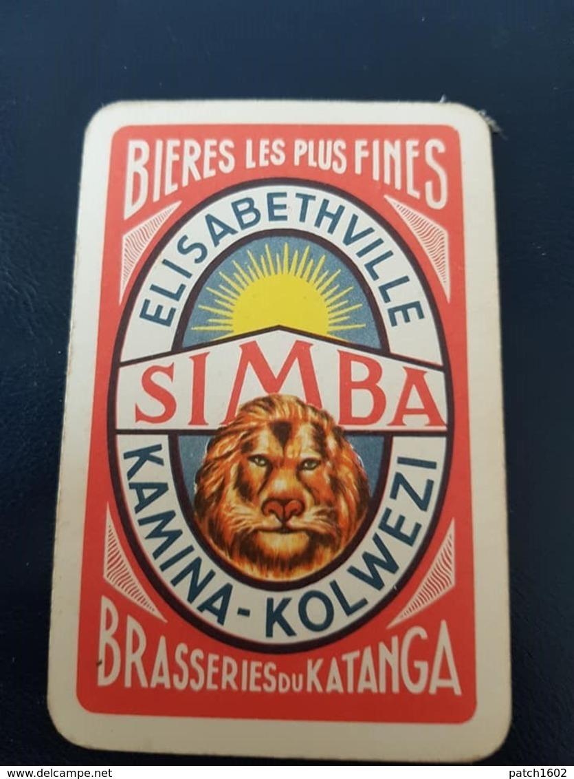 Lubumbashi, République Démocratique Du Congo Brasserie Du Katanga Simba Une Carte à Jouer Jeu Cartes - Other