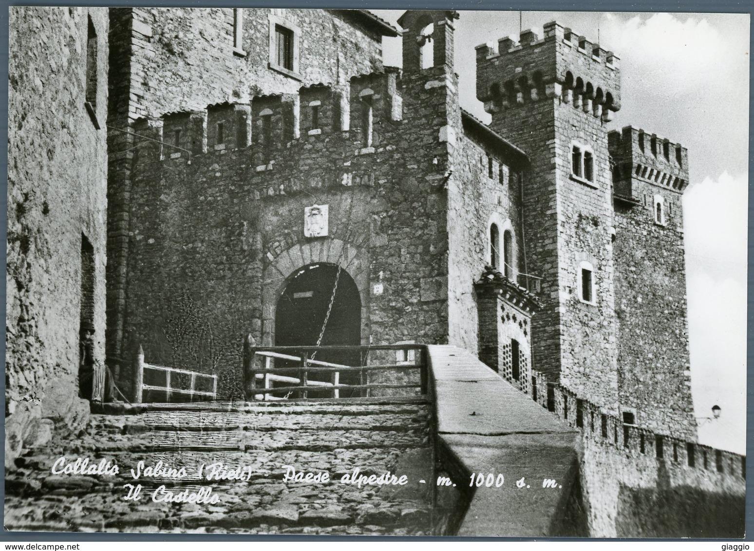 °°° Cartolina N. 72 Collalto Sabino Paese Alpestre Il Castello Nuova °°° - Rieti