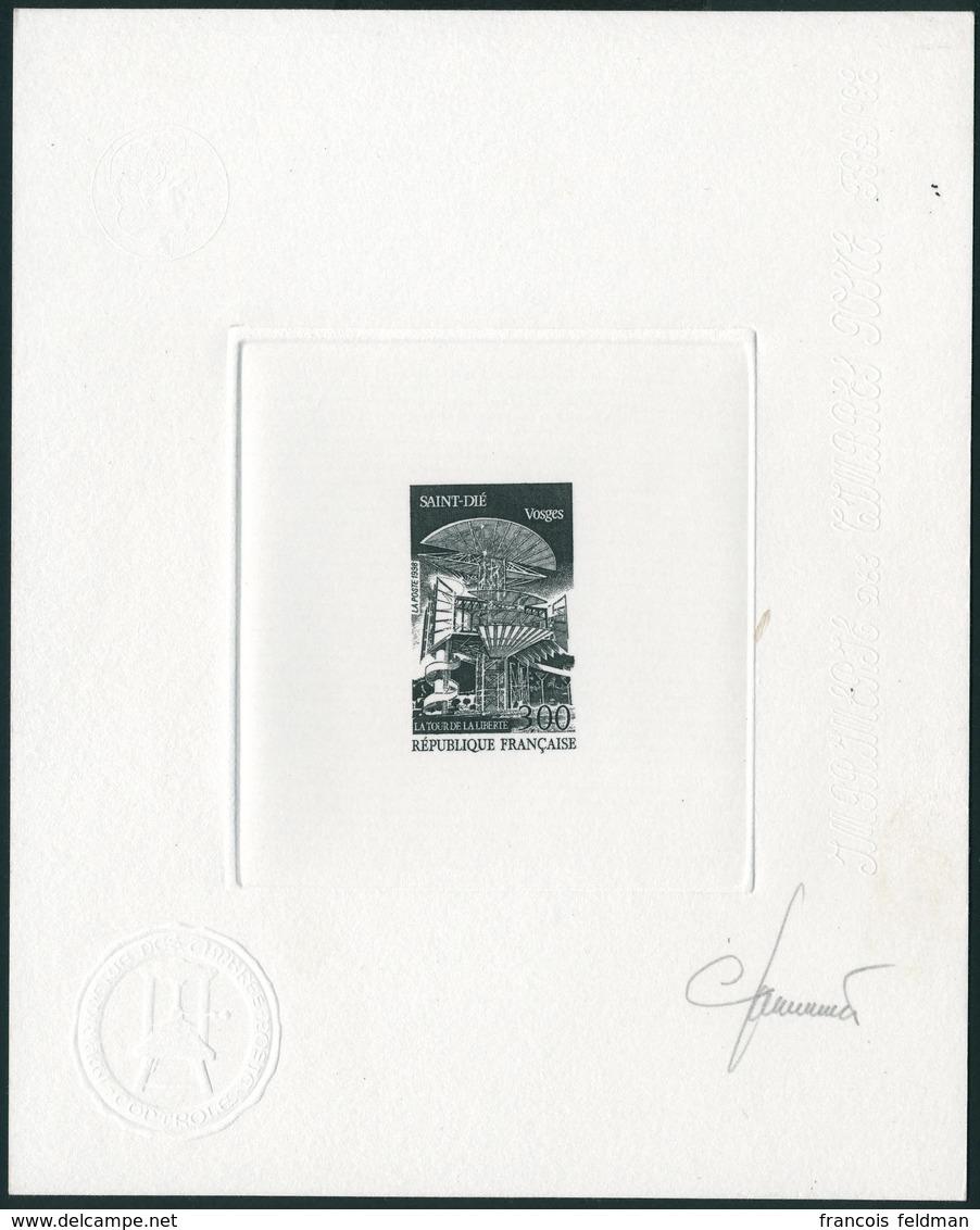 N°3194. La Tour De La Liberté à Saint-Dié. Epreuve D'artiste En Noir, Signée. T.B. - Postzegels