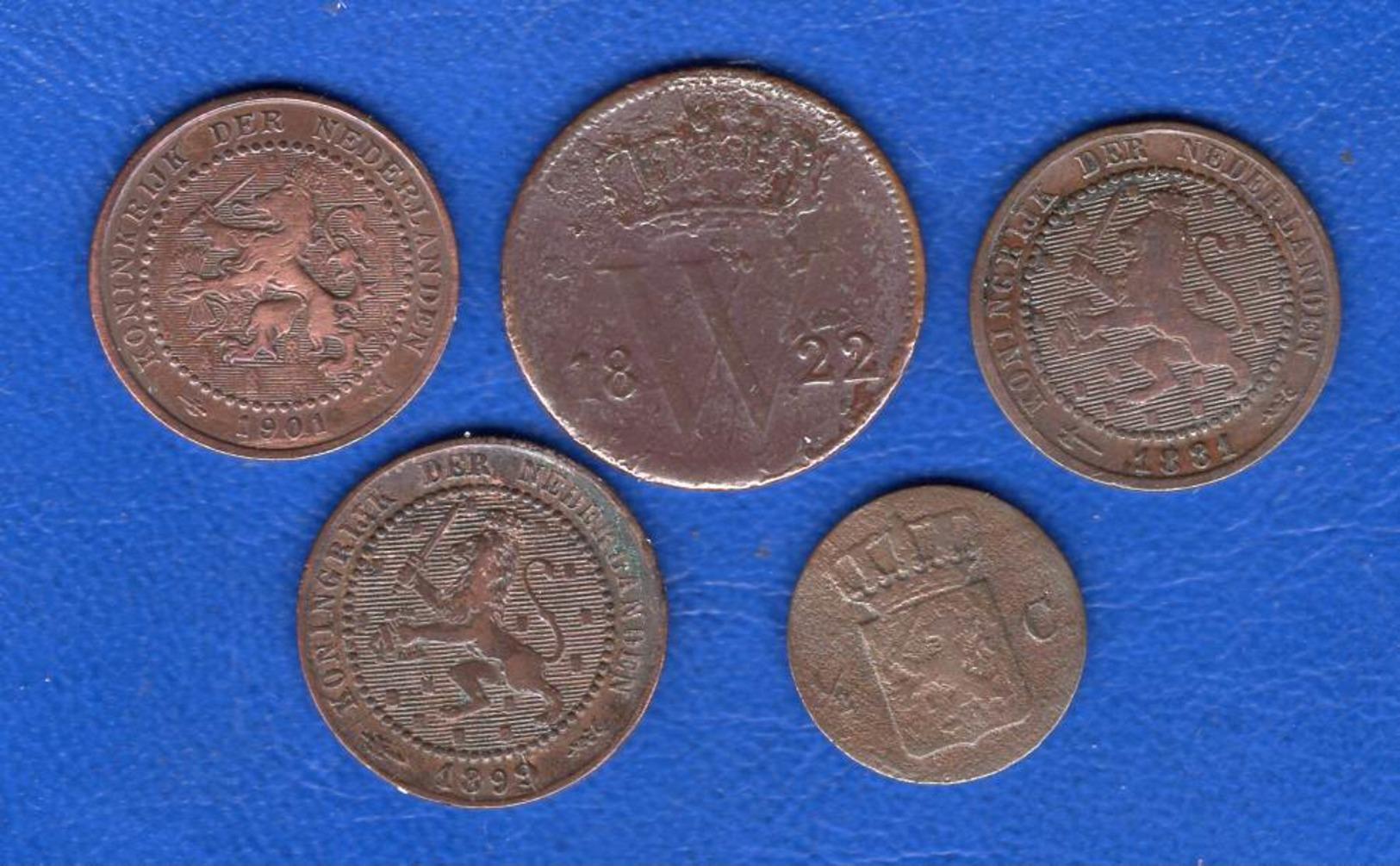 Pays Bas 5 Pieces - [ 3] 1815-… : Regno Dei Paesi Bassi