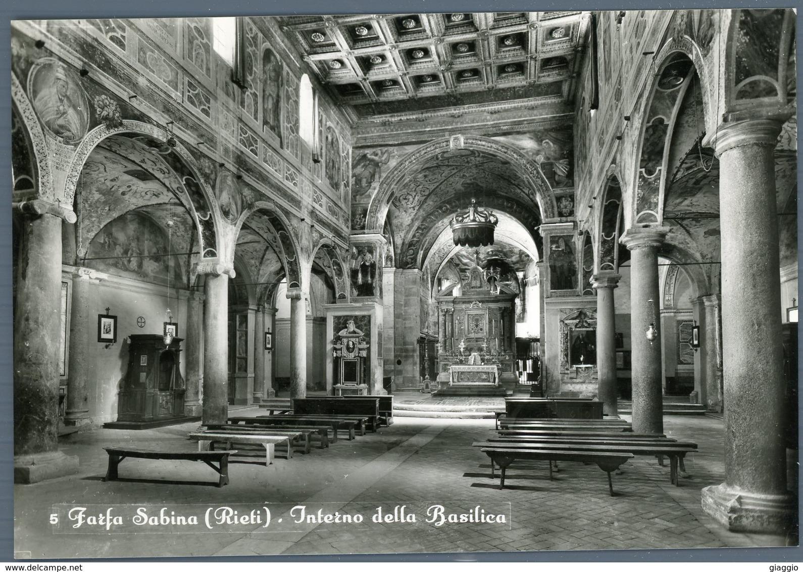 °°° Cartolina N. 82 Farfa Sabina Interno Della Basilica Nuova °°° - Rieti