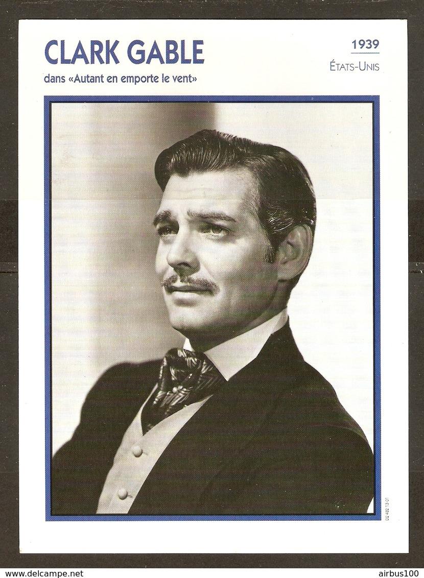 PORTRAIT DE STAR 1939 ETATS UNIS USA - ACTEUR CLARK GABLE AUTANT EN EMPORTE LE VENT - ACTOR CINEMA - Fotos
