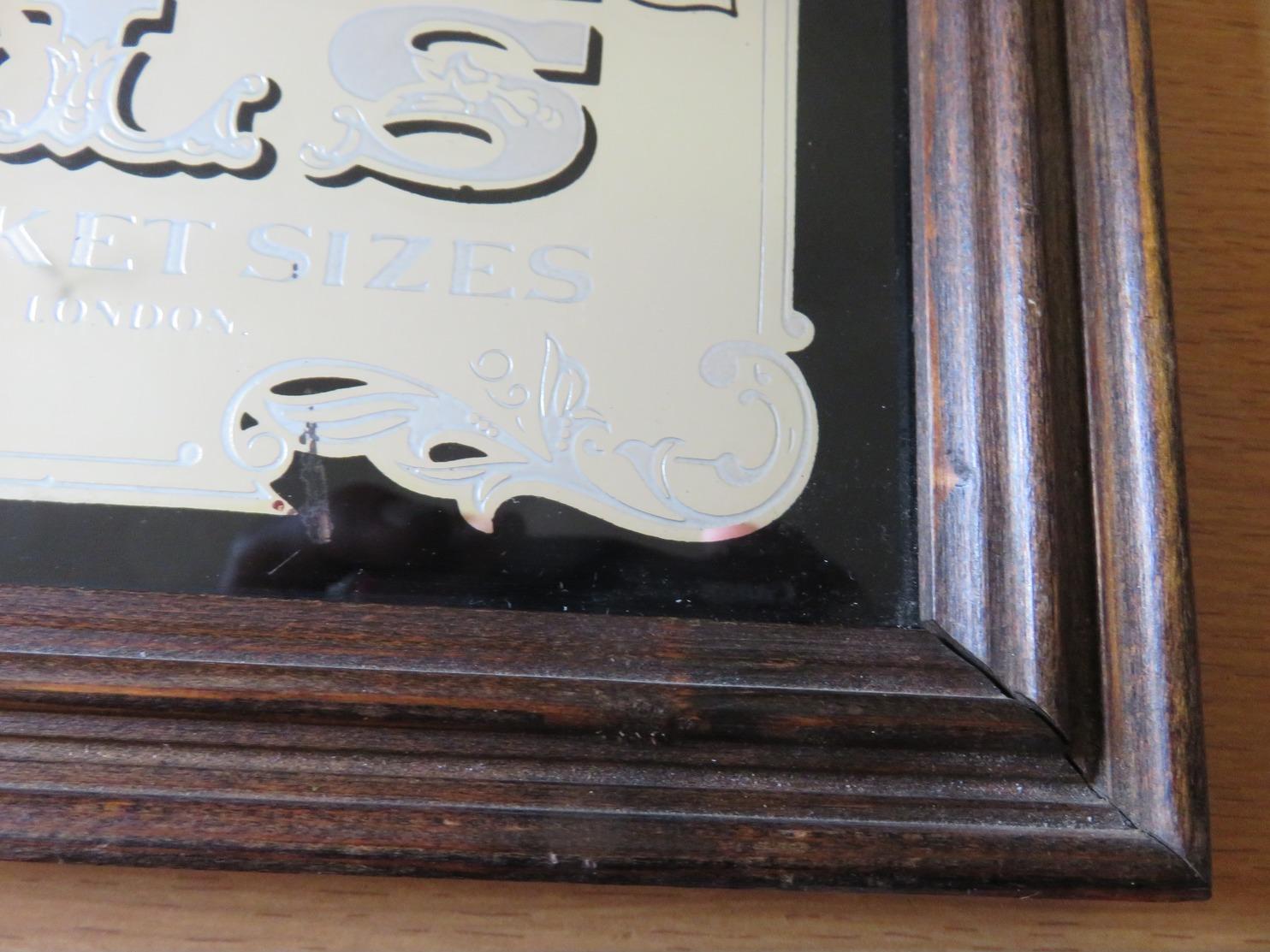 ★★★ Rare Beau Miroir Publicitaire VINTAGE 1970s Pub Advertising/miroir COLONEL SAMUEL COLT Pistols 31,2 X 23,5 Cm ★★★ - Plaques Publicitaires