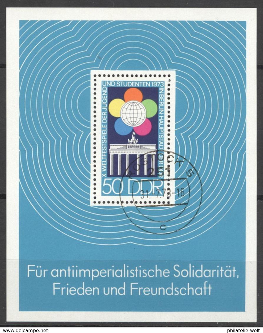 DDR Block 38 Tagesstempel Rostock - Blocs