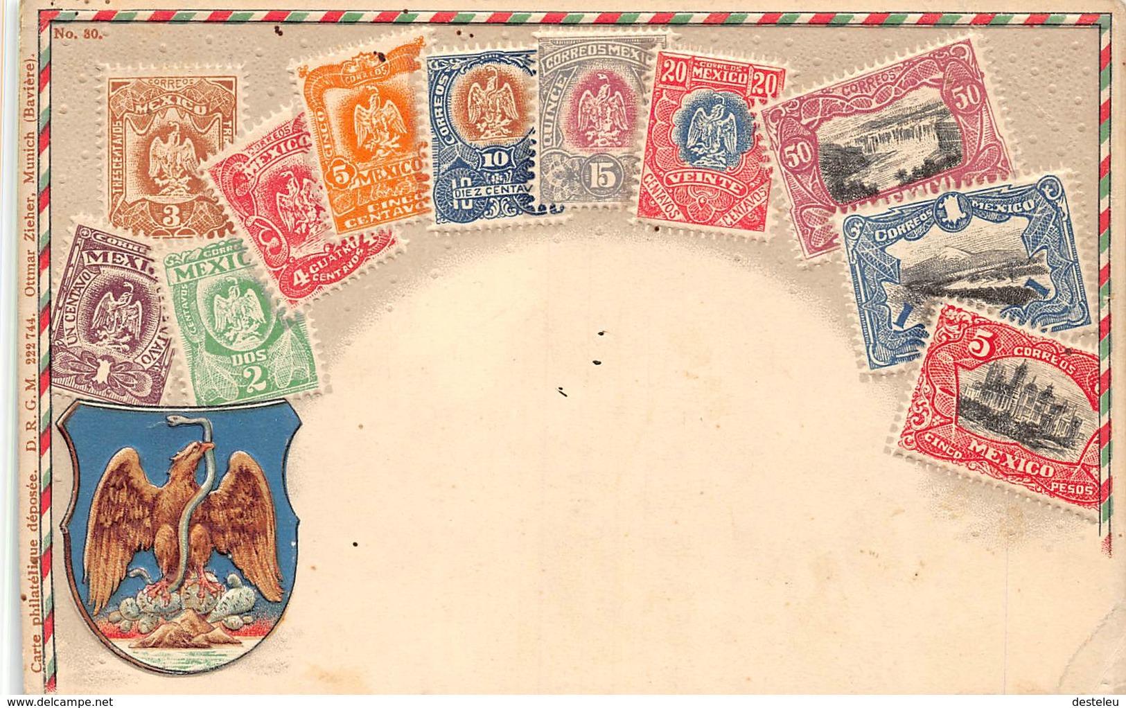 Stamps Postcard MEXICO - Mexique