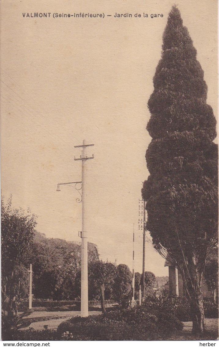 VALMONT (Seine-Inférieure) - 1910-1920 - Le Vivier - Jardin De La Gare - Station Statie - Valmont
