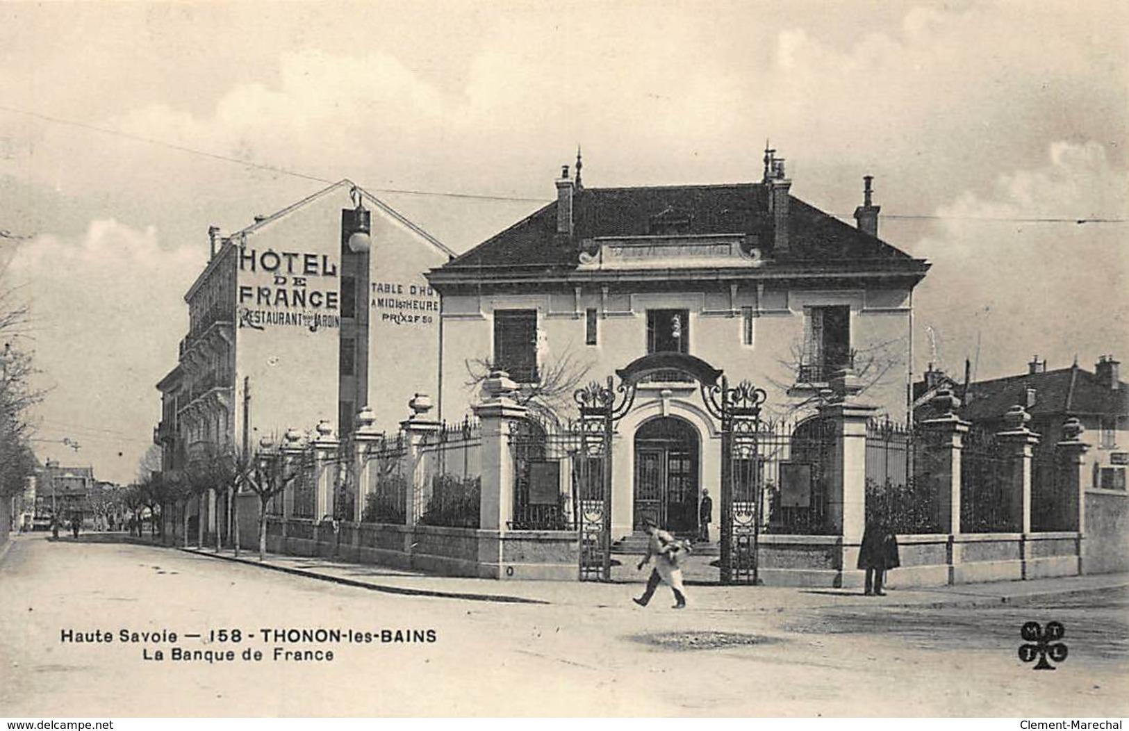 THONON-les-BAINS : La Banque De France - Tres Bon Etat - Banques