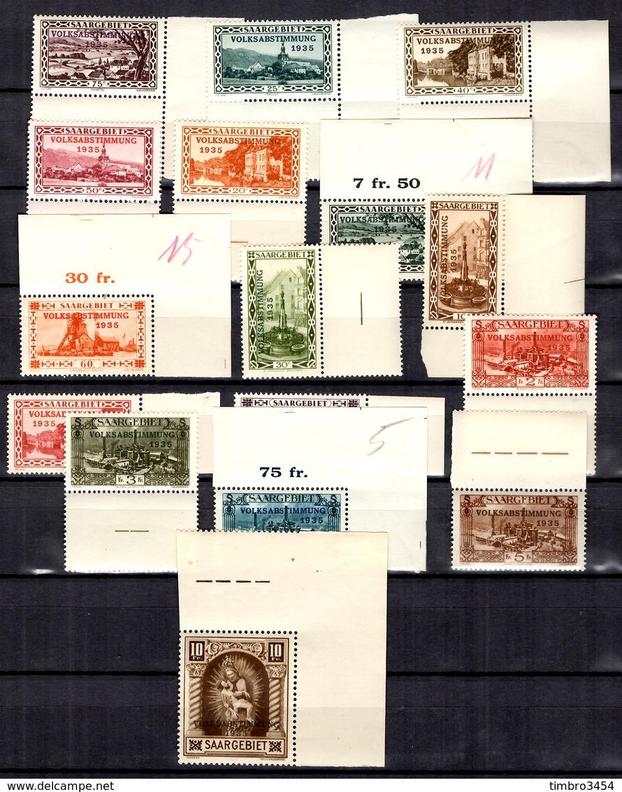 Sarre YT N° 173/188 Neufs ** MNH. TB. A Saisir! - Unused Stamps