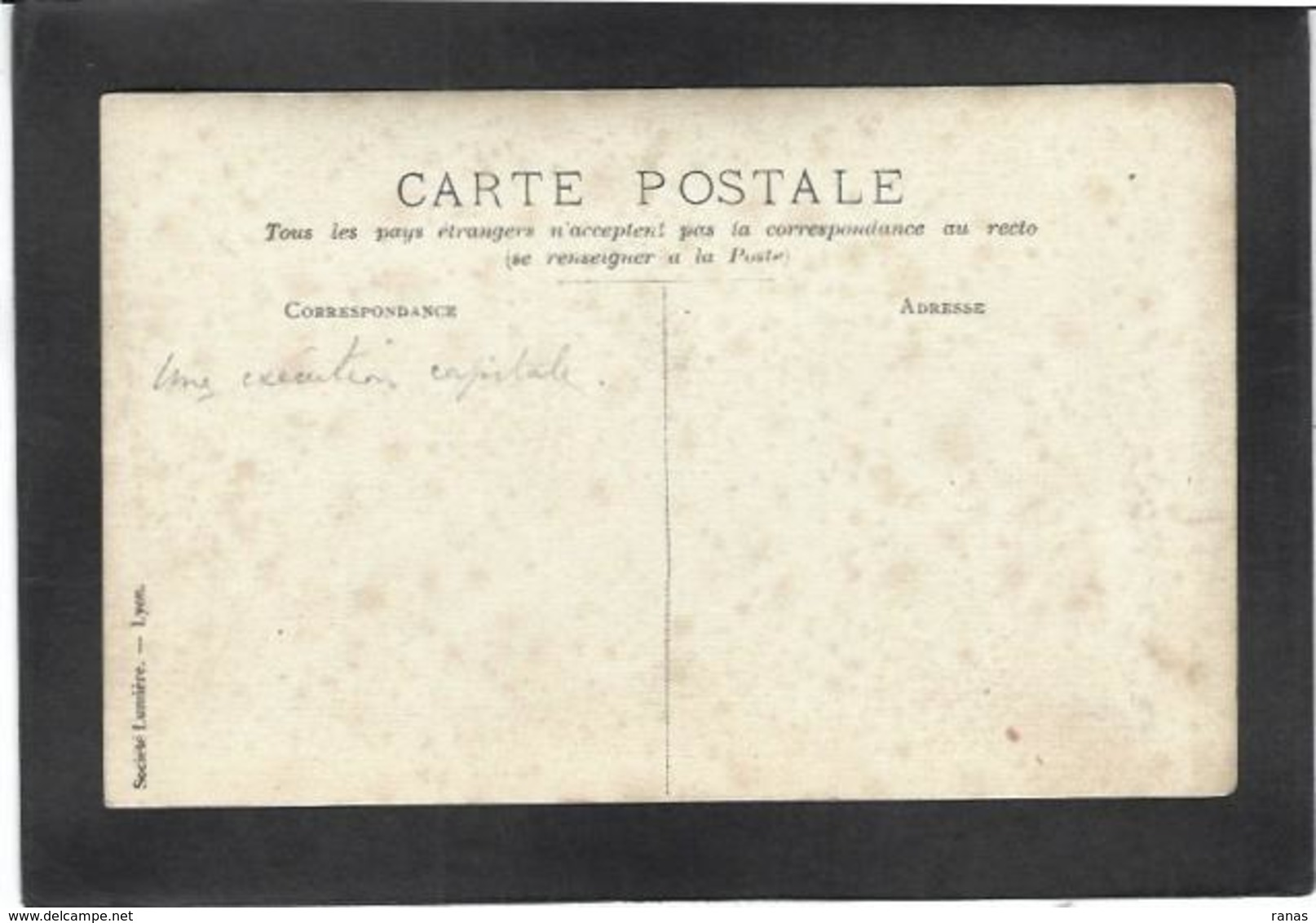CPA ERYTHREE Carte Photo RPPC Non Circulé Voir Texte Scan Du Dos Pendaison Exécution - Eritrea