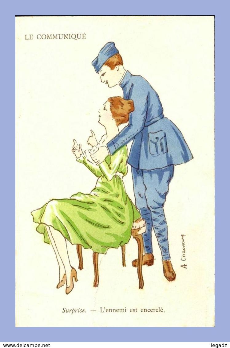 CPA - Illustration De Charme (A. Chaineux (?)) - 110. Le Communiqué - Surprise - L'ennemi Est Encerclé - Illustrators & Photographers