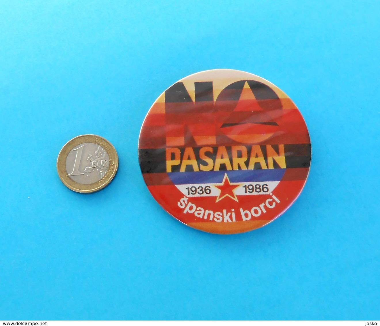 NO PASARAN - 1986. CONGRESS OF YUGOSLAV VOLUNTEERS OF SPAIN CIVIL WAR Voluntarios Internacionales De La Libertad - Army & War