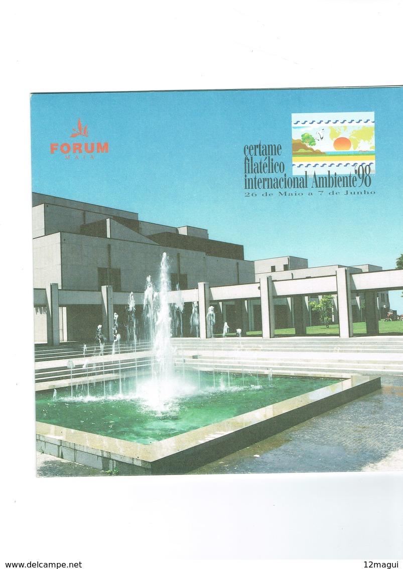 PORTUGAL- PHONECARDS---- CHIP CARD-20 U  CERTAME FILATÉLICO NO FORUM DA MAIA.-- MINT - WITH FOLDER AND A PICTURE - Portugal