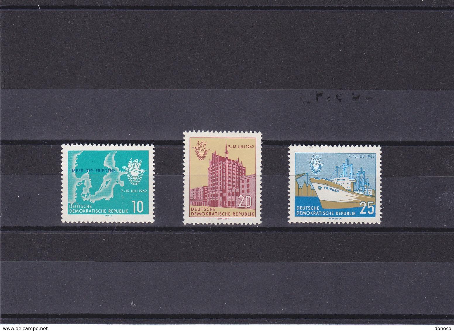 RDA 1962 BALTIQUE Yvert 611-613 NEUF** MNH - [6] Oost-Duitsland