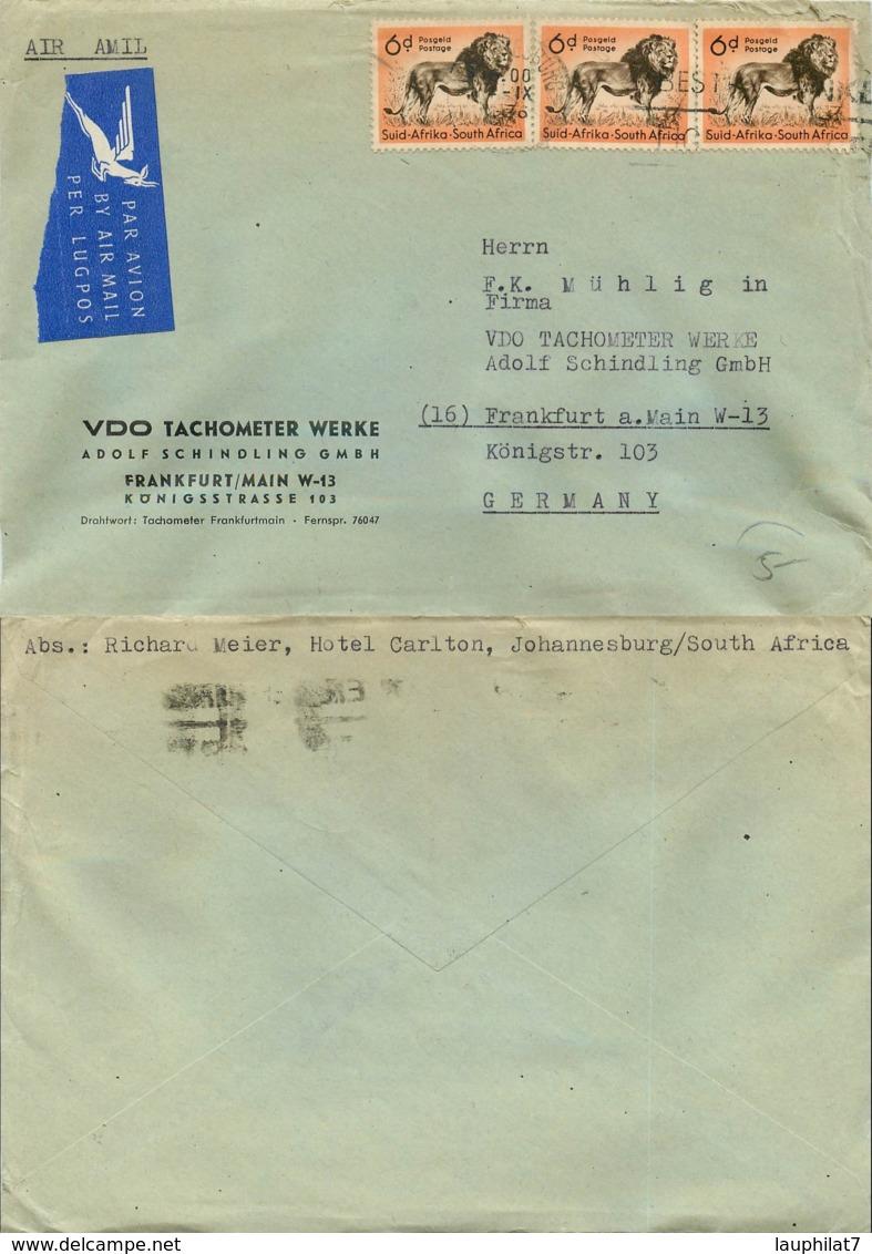 [404540]TB//-Afrique Du Sud 1990 -  Animaux, Félins - Covers & Documents
