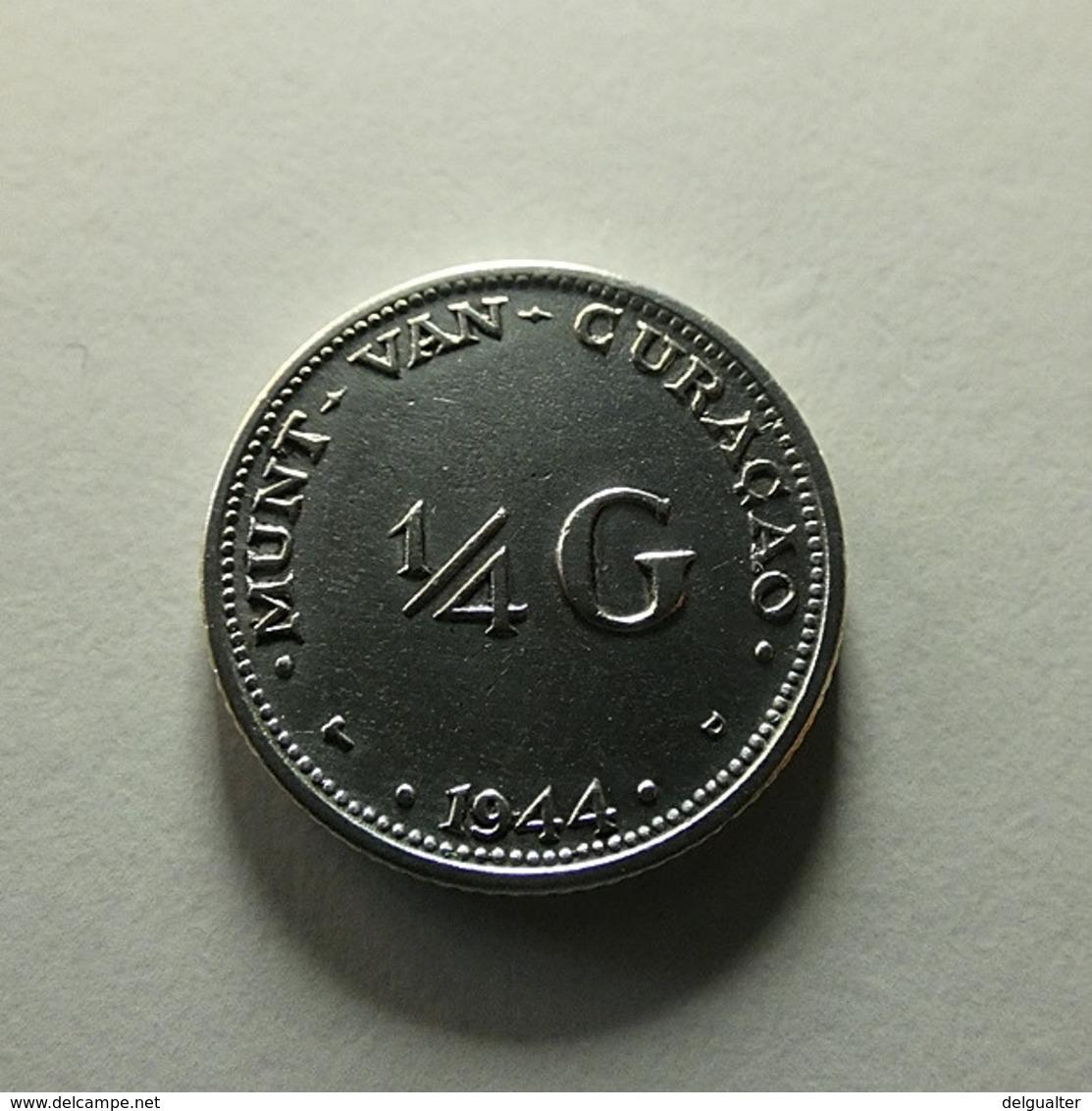 Curaçao 1/4 Gulden 1944 D Silver - Curacao