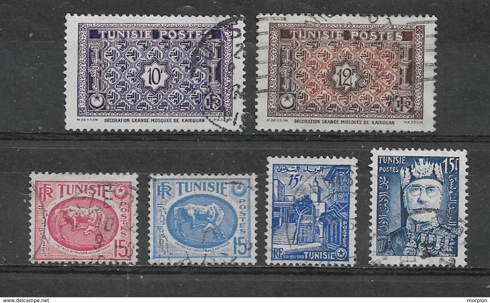 TUNISIE  Yvert  N° 318A-318C-344-344A-374-395  Oblitérés - Oblitérés