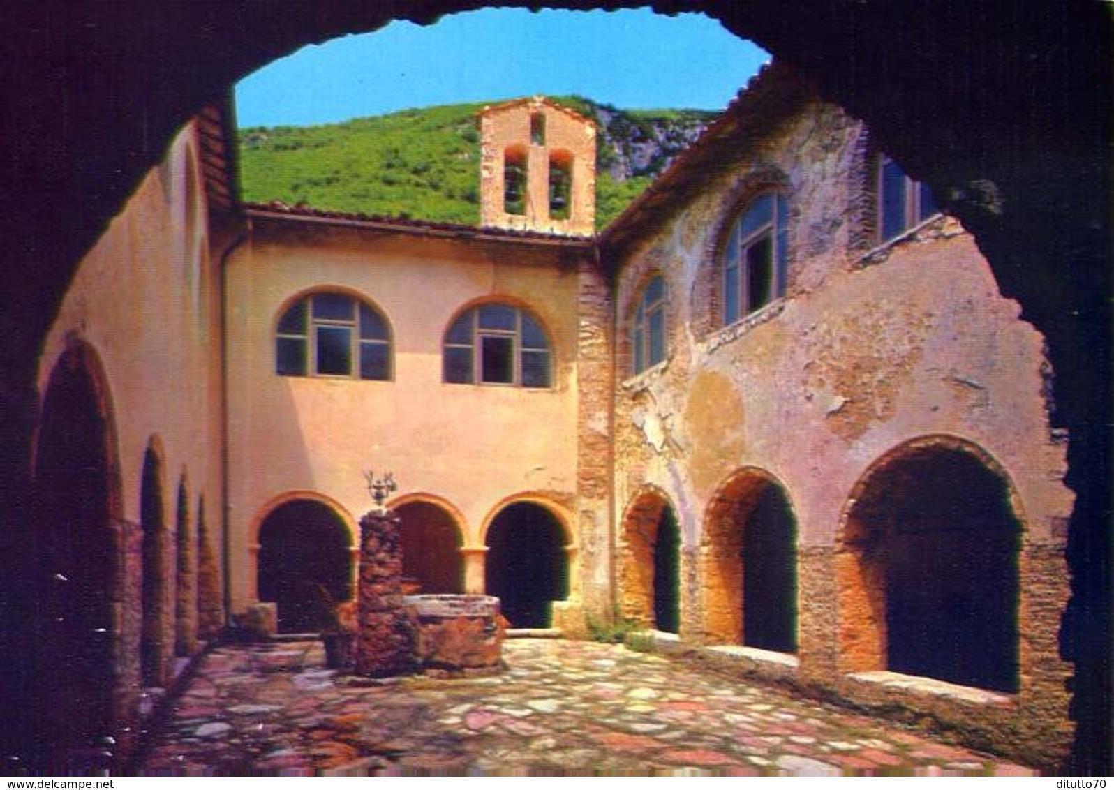 Rieti - Santuario Francescano Di Poggio Bustone - Chiostro - Formato Grande Non Viaggiata – E 12 - Rieti