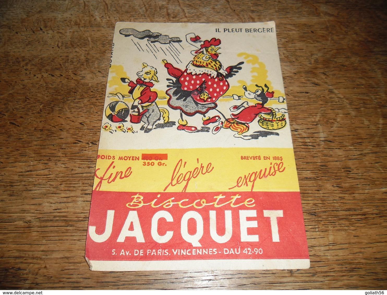 Buvard Ancien Biscottes Jacquet Il Pleut Bergère - Zwieback