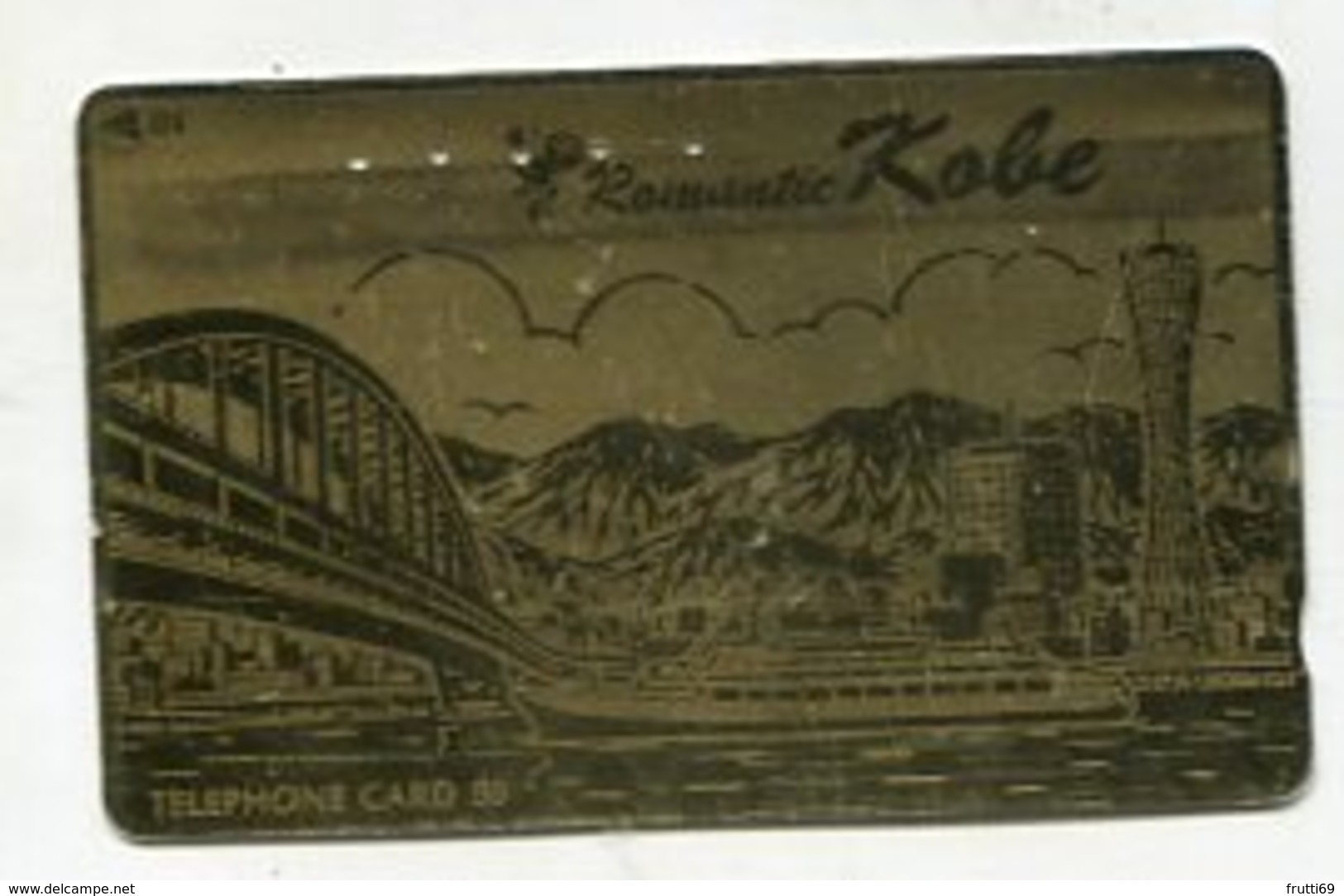 TK 06772 JAPAN - 110-011 Landscape & Bridge - Special Surface Card - Mountains