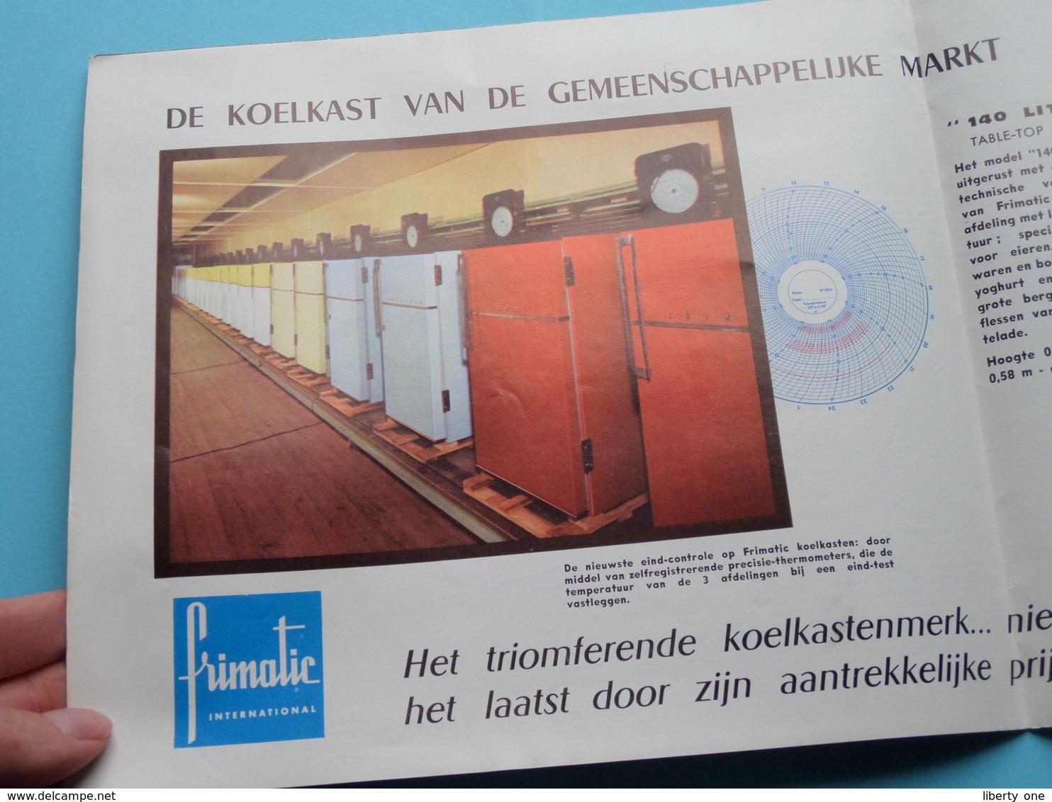 FRIMATIC Int. - Koelkast ( Prestige Reeks / Edit. Alain - 1961 ) Brochure / Complet > NL ! - Publicités