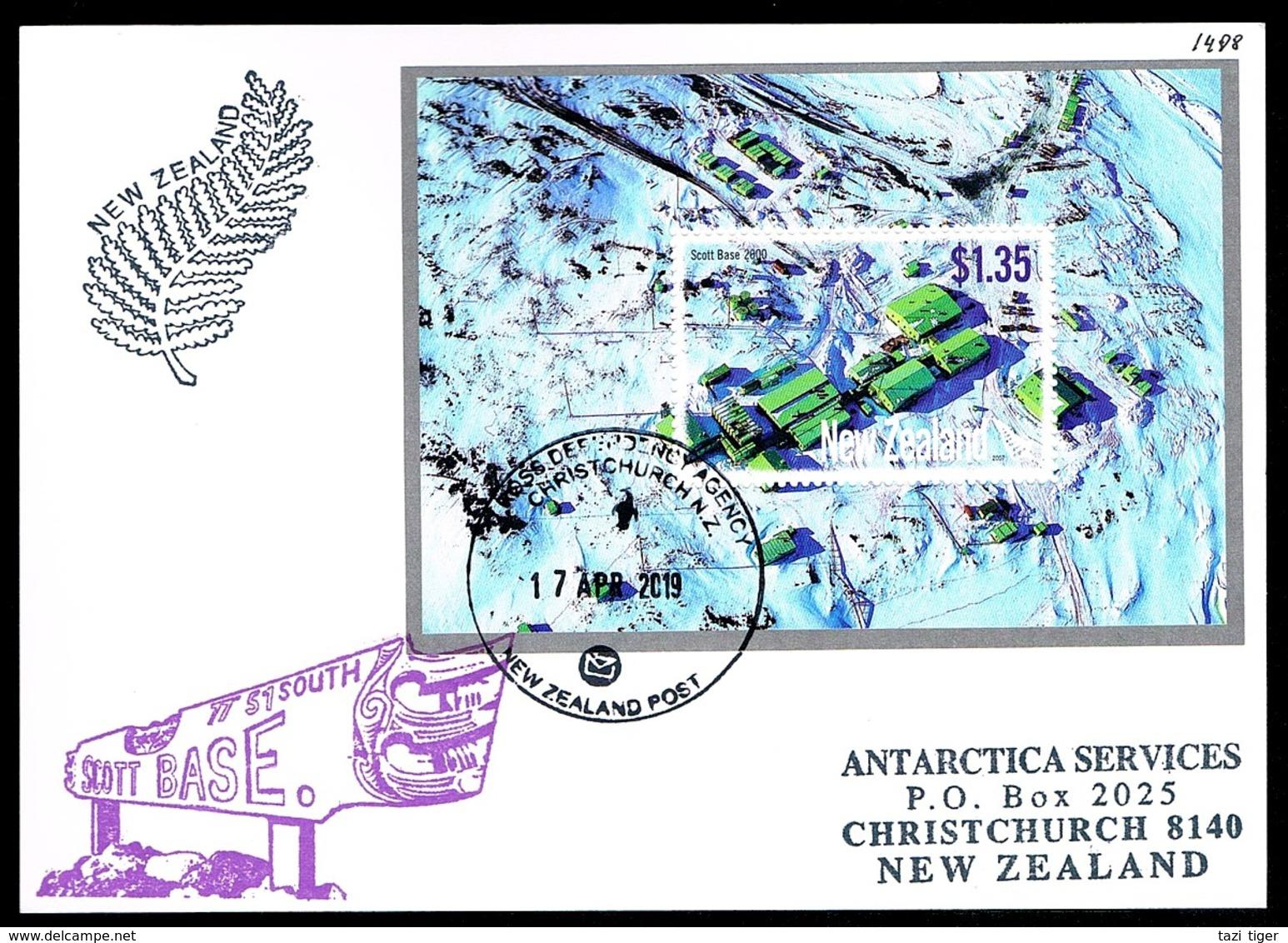 Antarctica • Ross Dependency • 2019 • Airmail Postcard To Germany • Moonshine In Antarctica - Dépendance De Ross (Nouvelle Zélande)