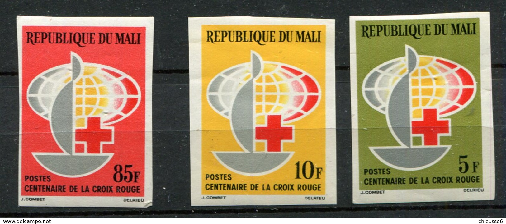 Mali ** ND N° 54 à 56 - Croix Rouge - Malí (1959-...)