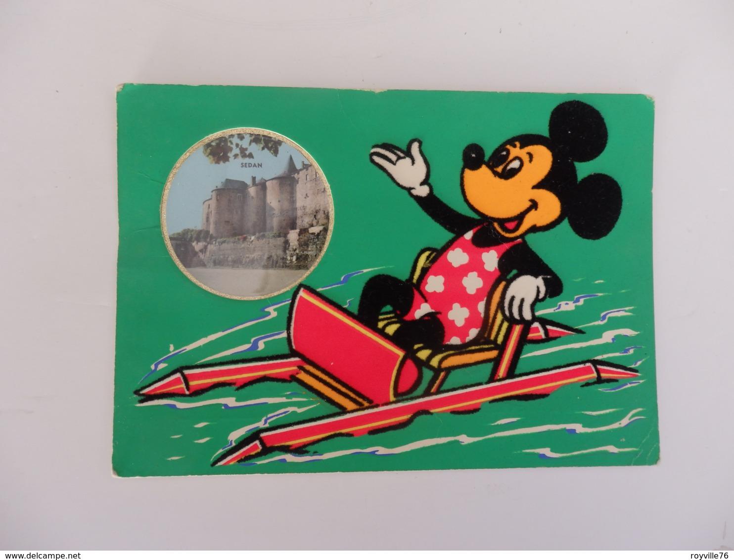 Carte Postale Parfumée De Sedan Et Walt-Disney Productions. - Sedan