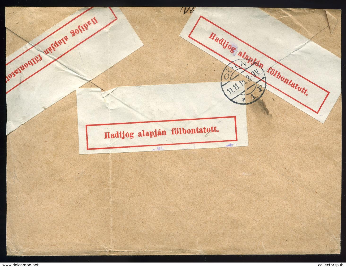 VÁGÚJHELY / Nové Mesto Nad Váhom  1915. Ajánlott Cenzúrázott Hadi Segély-Turul Levél Kölnbe Küldve - Hongrie