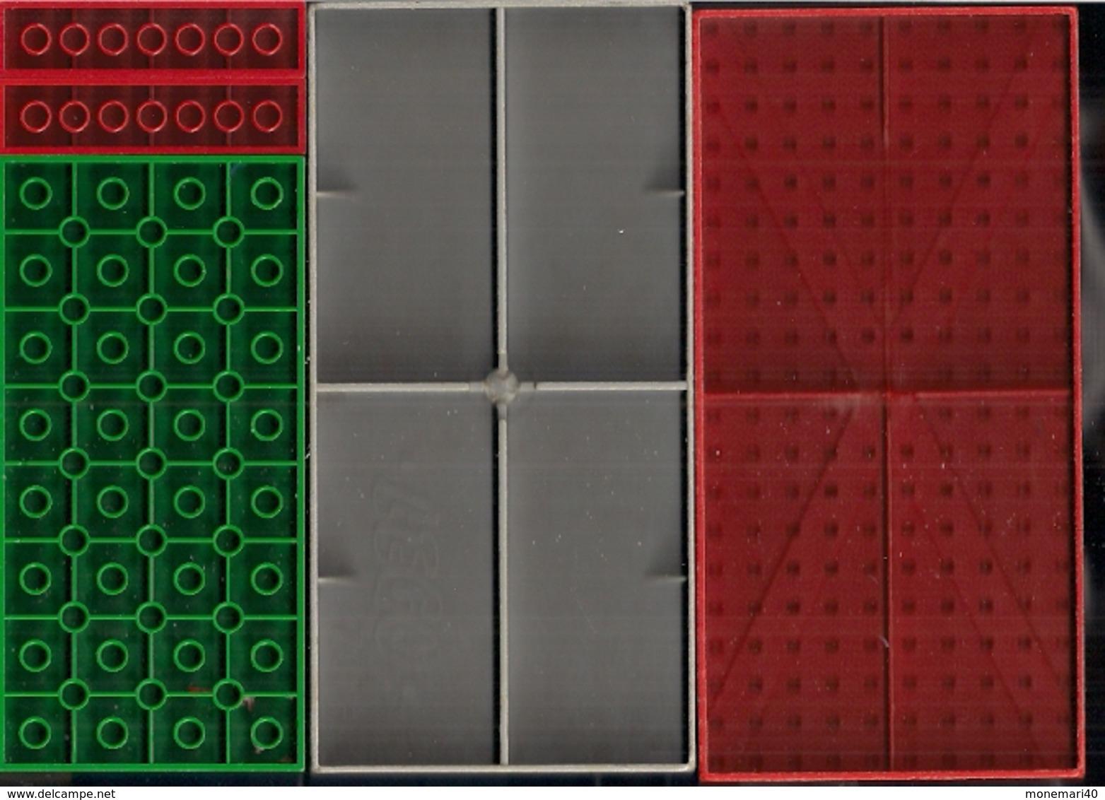 LEGO CLASSIC LOT DE 4 PLAQUETTES 2 De 160 Mm Sur 80 Mm.,1 De 128 Mm Sur 64 Et Une De 63 Mm Sur 32 & DIFFÉRENTES BRIQUES - Lego